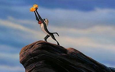 """Capture d'écran d'une vidéo d'une scène du film de Disney de 1996 """"Le roi lion"""" (Capture d'écran :  YouTube)"""