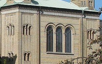La synagogue de Göteborg en Suède (Crédit : Gumisza / Wikipedia)