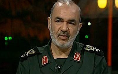 Le vice-commandant des Gardiens de la révolution iraniens Hossein Salami (Capture d'écran : YouTube)
