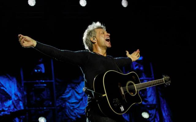 Jon Bon Jovi à Tel Aviv en octobre 2015 (Crédit : autorisation Bluestone Group)