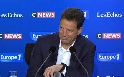 Geoffroy roux de Bezieux, président du Medef. (Crédit : capture d'écran YouTube)