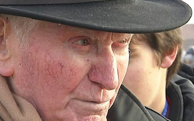 Benjamin Orenstein, rescapé d'Auschwitz, en 2014. (Capture d'écran FranceInfo/Dailymotion)