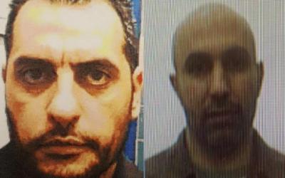 Dara'am Jabarin (à gauche) et Zaher Jabarin. Dara'am Jabarin a été arrêté en janvier 2018 pour avoir transféré des fonds depuis la Turquie pour le compte du Hamas. (Crédit : Shin Bet)