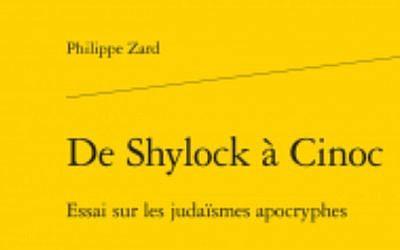 """Couverture """"de Shyloc à Cinoc"""" (Crédit: édition Garnier)"""