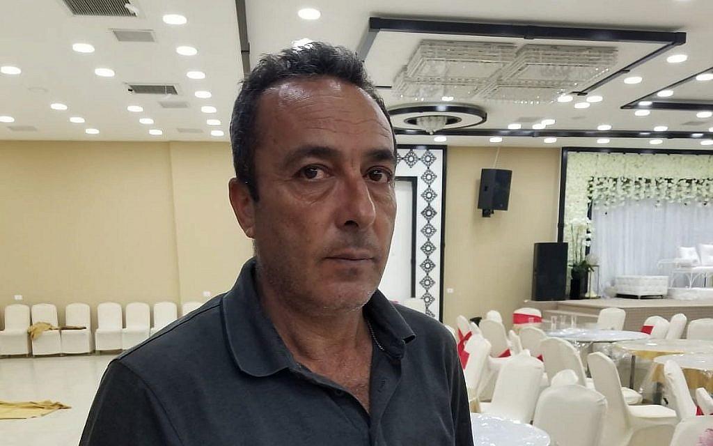 Yakoub Rabi, 52 ans, dans une salle de Biddya, au nord de la Cisjordanie, le 15 octobre 2018. (Crédit : Adam Rasgon/Times of Israel)