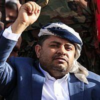 Mohammed Ali al-Houthi, chef du Haut comité révolutionnaire et important responsable politique des rebelles, le 20 septembre 2018. (Crédit : MOHAMMED HUWAIS / AFP)