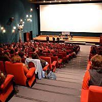 Projection d'un film au Festival International du Film d'Histoire de Pessac. (Crédit : Facebook /Festival International du Film d'Histoire de Pessac)