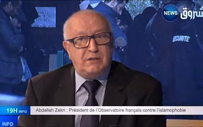 Abdallah Zekri, délégué général du CFCM. (Crédit : YouTube)