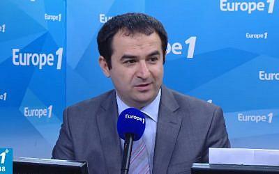 Ahmet Ogras, président du Conseil français du culte musulman. (Crédit : capture d'écran Youtube/Europe1)