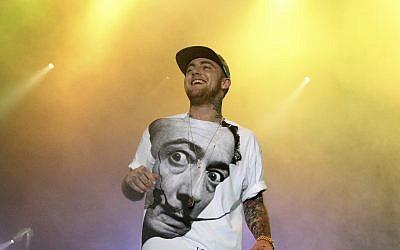 Le rappeur Mac Miller en tournée à  Philadelphie le 13 juillet  2013. (Crédit ! Owen Sweeney/Invision/AP, File)
