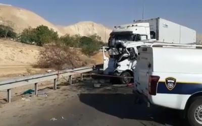 L'accident survenu au carrefour  Petzael qui a fait six morts et cinq blessés, le 4 novembre 2018 (Capture d'écran)