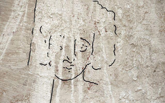 La reconstitution du Dr Emma Maayan-Fanar du visage de Jésus a été retrouvée dans une église nord de l'époque byzantine à Shivta, dans le Néguev. (Crédit : Dror Maayan)