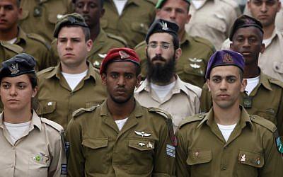 A titre d'illustration : Soldats de l'armée israélienne, le 23 avril 2012 (Miriam Alster/Flash90)
