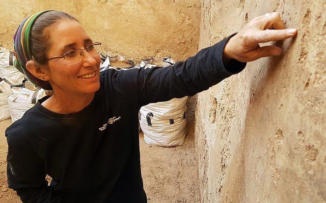 La docteure Davida Eisenberg-Degen, spécialiste des dessins et de l'art de la pierre au sein de l'Autorité des antiquités israéliennes (Crédit : IAA)