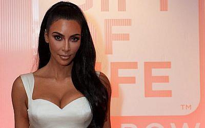 Kim Kardashian est récompensée par le registre de donneurs Gift of Lige, à Los Angeles, le 29 octobre 2018. (Crédit : Kara Frans Photography via JTA)