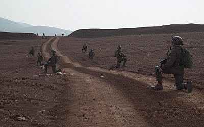 Des soldats de la brigade de commando de l'armée israélienne participent à un exercice à grande échelle au mois de novembre 2018 (Crédit : Armée israélienne)