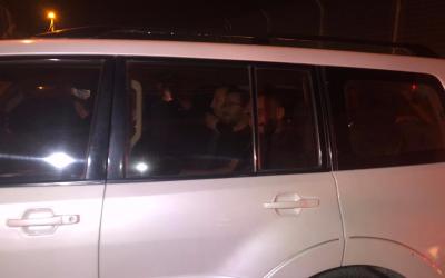 Les Palestiniens arrêtés par la police pour avoir participé à une conférence à Jérusalem Est, le 1er novembre 2018 (Crédit : autorisation)