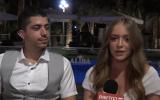 Raziel (à gauche) et Yael Huri après leur mariage, lundi soir 12 novembre 2018 (Crédit : journal de Hadashot TV)