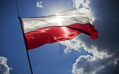 Le drapeau polonais. (Crédit : Pixabay)