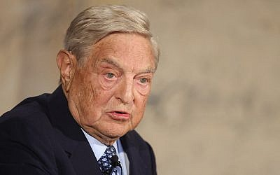 George Soros à Berlin, le 10 septembre 2012. (Crédit : Sean Gallup/Getty Images via JTA)