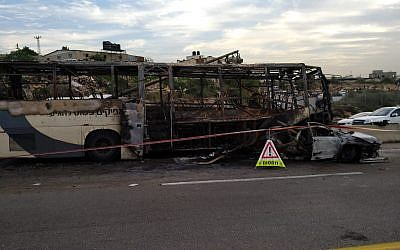 La scène d'une collision mortelle entre une voiture et un autobus sur la route 5 dans le nord de la Cisjordanie le 29 novembre 2018. (Source : MDA)