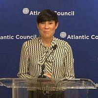 Ine Eriksen Søreide, ministre des Affaires étrangères en Norvège. (Crédit : capture d'écran YouTube)