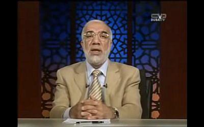 omar Abdelkafi, prédicateur musulman. (Crédit : Capture d'écran YouTube)