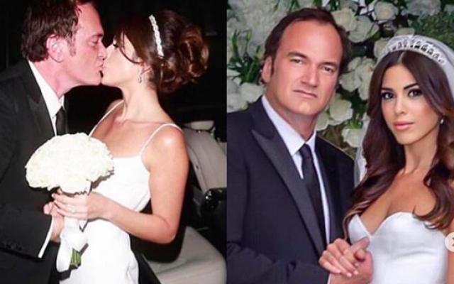 Photos du mariage de Quentin Tarantino et Daniella Pik à Los Angeles, le 28 novembre 2018, (Crédit : Keren Wolf/Instagram)