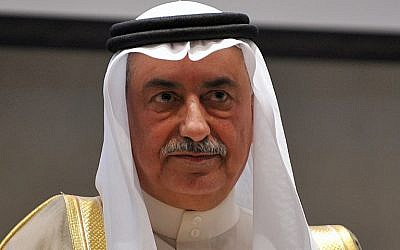 Ibrahim al-Assaf, nouveau ministre d'Etat aux Affaires étrangères en Arabie saoudite. (Crédit : Fayez Nureldine / AFP)
