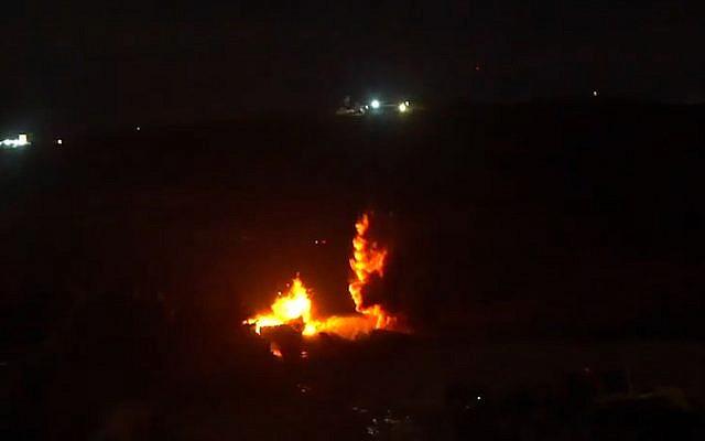 L'armée israélienne fait exploser un tunnel entrant en Israël sous la frontière avec le Liban, le 20 décembre 2018 (Crédit : Porte-parole de l'armée)