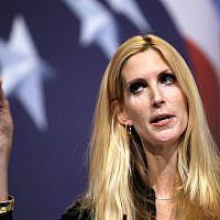 L'auteure conservatrice Ann Coulter lors de la conférence de l'action politique conservatrice  (CPAC) à Washington, le 20 février 2010 (Crédit :  AP Photo/Jose Luis Magana)