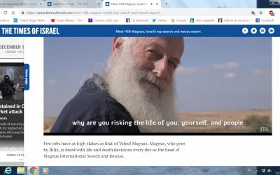 Hilik Magnus dans une vidéo de JTA (Crédit : JTA)