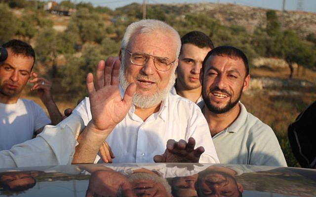 Le président du Conseil législatif palestinien Aziz Dweik. (Crédit : Issam Rimawi/Flash90)