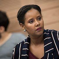 La députée Pnina Tamano-Shata à la Knesset, le 12 juillet 2018. (Crédit : Yonatan Sindel/Flash90)
