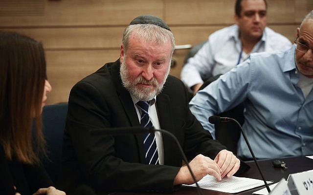 Le procureur général Avichai Mandelblit assiste à une réunion de la commission de contrôle de l'État à la Knesset, le 3 décembre 2018. (Miriam Alster/Flash90)