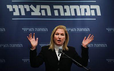 Tzipi Livni à la Knesset, le 17 décembre 2018. (Crédit : Hadas Parush/Flash90)