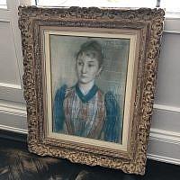 La reproduction de l'oeuvre d'art pillée par les nazis du 'Portrait de Gabrielle Diot' ' (Autorisation)