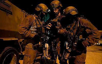 Les soldats israéliens opèrent en Cisjordanie (Crédit : Unité du porte-parole de l'armée)