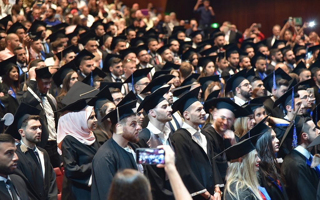 Les cérémonies de remise des diplômes des étudiants étrangers de Nicolae Testemitanu, comme celle-ci en juin 2018, comportent un grand nombre d'Israéliens. (Andrei Ichim/ Université de médecine Nicolae Testemitanu)