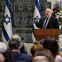 Le Président Reuven Rivlin à la Résidence du Président à Jérusalem, le 28 novembre 2018. (Mark Neiman/GPO)