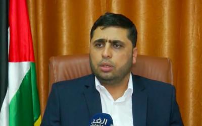 Le porte-parole du Hamas Abdelatif al-Qanou sur une chaîne de télévision arabe, le 7 octobre 2018 (Capture d'écran : Youtube)