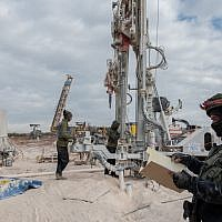 L'armée israélienne perce le sol au sud de la frontière libanaise pour tenter de localiser et de détruire les tunnels d'attaque du Hezbollah qui, selon elle, ont pénétré en territoire israélien, le 5 décembre 2018. (Armée israélienne)