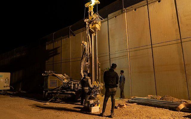 L'armée israélienne perce le sol au sud de la frontière libanaise pour tenter de localiser et de détruire les tunnels d'attaque du Hezbollah qui, selon elle, sont entrés en territoire israélien, le 5 décembre 2018. (Forces de défense israéliennes)
