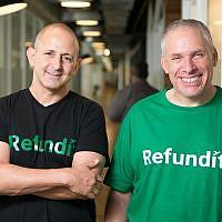 Ziv Tirosh, à gauche, et Uri Levine, co-fondateurs de Refundit (Autorisation) ,