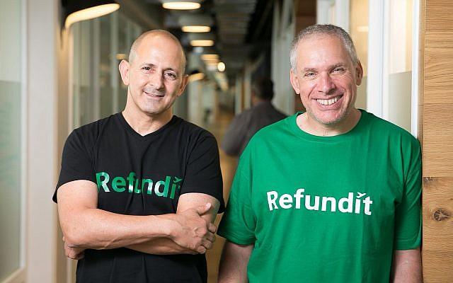 Ziv Tirosh, (à gauche), et Uri Levine, co-fondateurs de Refundit (Autorisation)