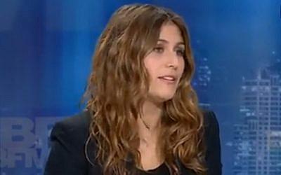 Flora Ghebali en novembre 2015 (Crédit: capture d'écran BFMTV)