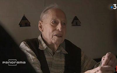 L'ancien SS Karl Munter, 96 ans, a tenu des propos négationnistes sur une chaîne allemande (Crédit: capture d'écran France 3/Youtube)