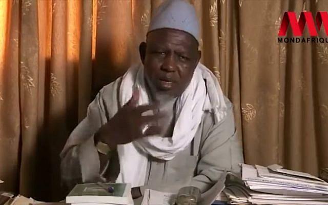 L'imam Mahmoud Dicko, influent président du Haut conseil islamique du Mali (HCIM). (Crédit : Capture d'écran Facebook)