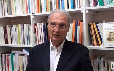 Jean-Michel Gaussot, écrivain et fils de résistant (Crédit: capture d'écran Editions L'Harmattan/Youtube)