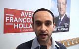Le nouveau maire de Sarcelles, Patrick Haddad, a rendu hommage à son grand-père, Juif venu de Tunisie. Ici en 2011 lors de la campagne électorale (Crédit: capture d'écran Alain Assouline/Dailymotion)